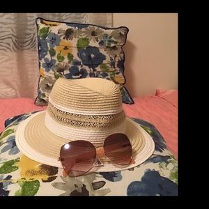 Torrid Straw Hat and Sunglasses Bundle